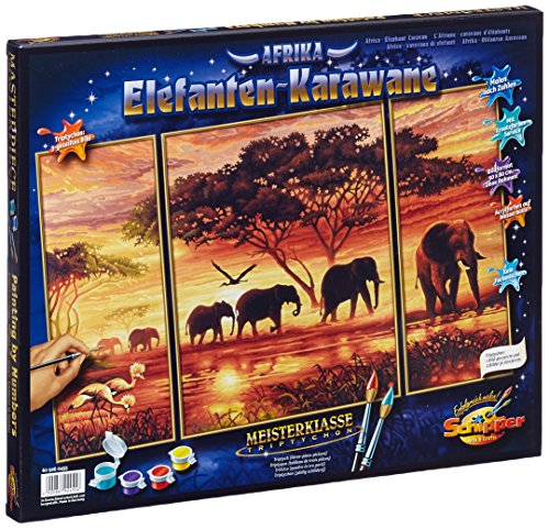 Schipper Elephant Caravan Paint-by-Number Kit
