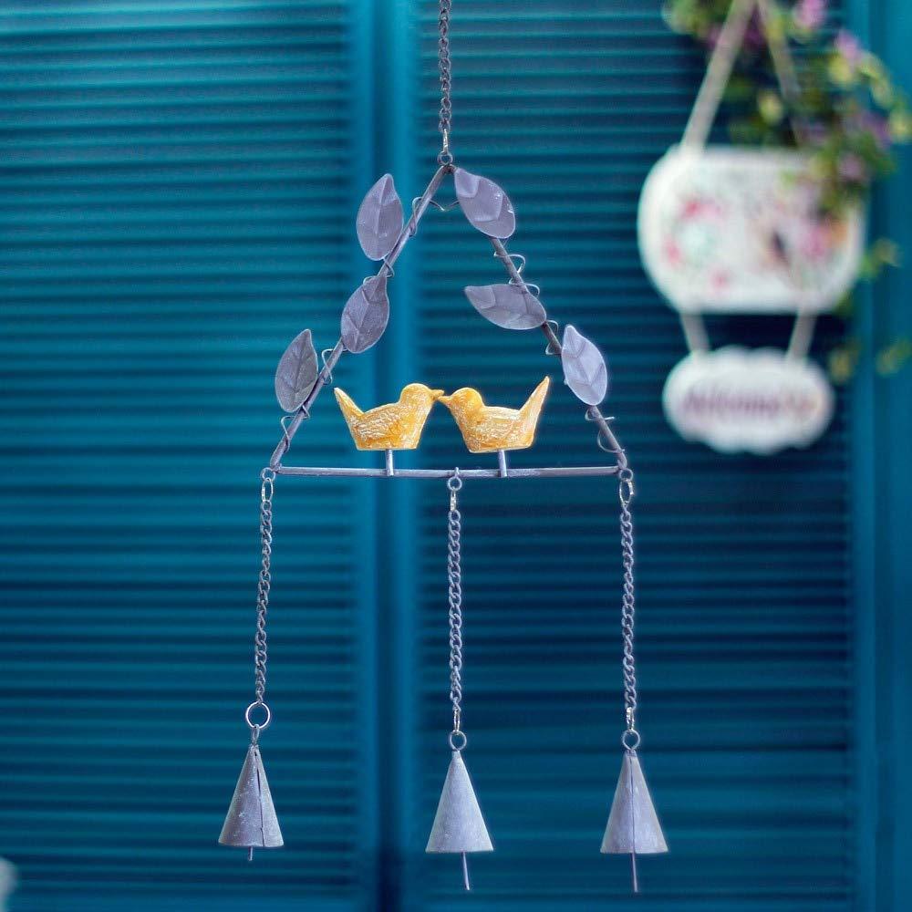 FelixStore Iron Material Small Fresh Bells Pendant Door Decoration Lovely Girl's Bedroom Wind Bell Birthday Gift Triangular Round