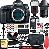 Canon EOS 5D Mark IV 30.4 MP Digital SLR Camera with Sigma 35mm f/1.4 DG HSM Art Wide-angle Lens + 128GB SDXC Memory Card & Microphone Deluxe Filter Bundle