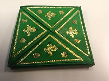 Marroquí plegable cartera de piel con monedero bolsa: Amazon ...
