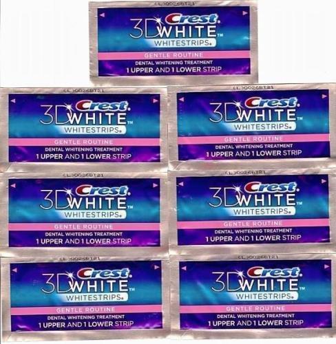 crest-3d-gentle-routine-whitestrips-white-strips-teeth-dental-whitening-stripes