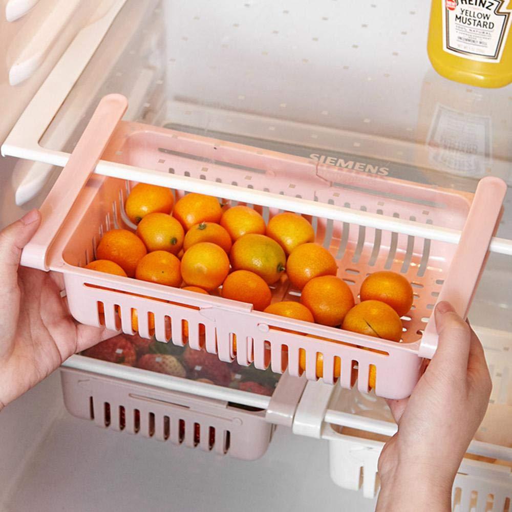 Hamkaw - Cajón Organizador para frigorífico con Compartimentos ...