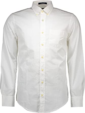 GANT S. Lakeside Poplin LS BD Camisa para Hombre