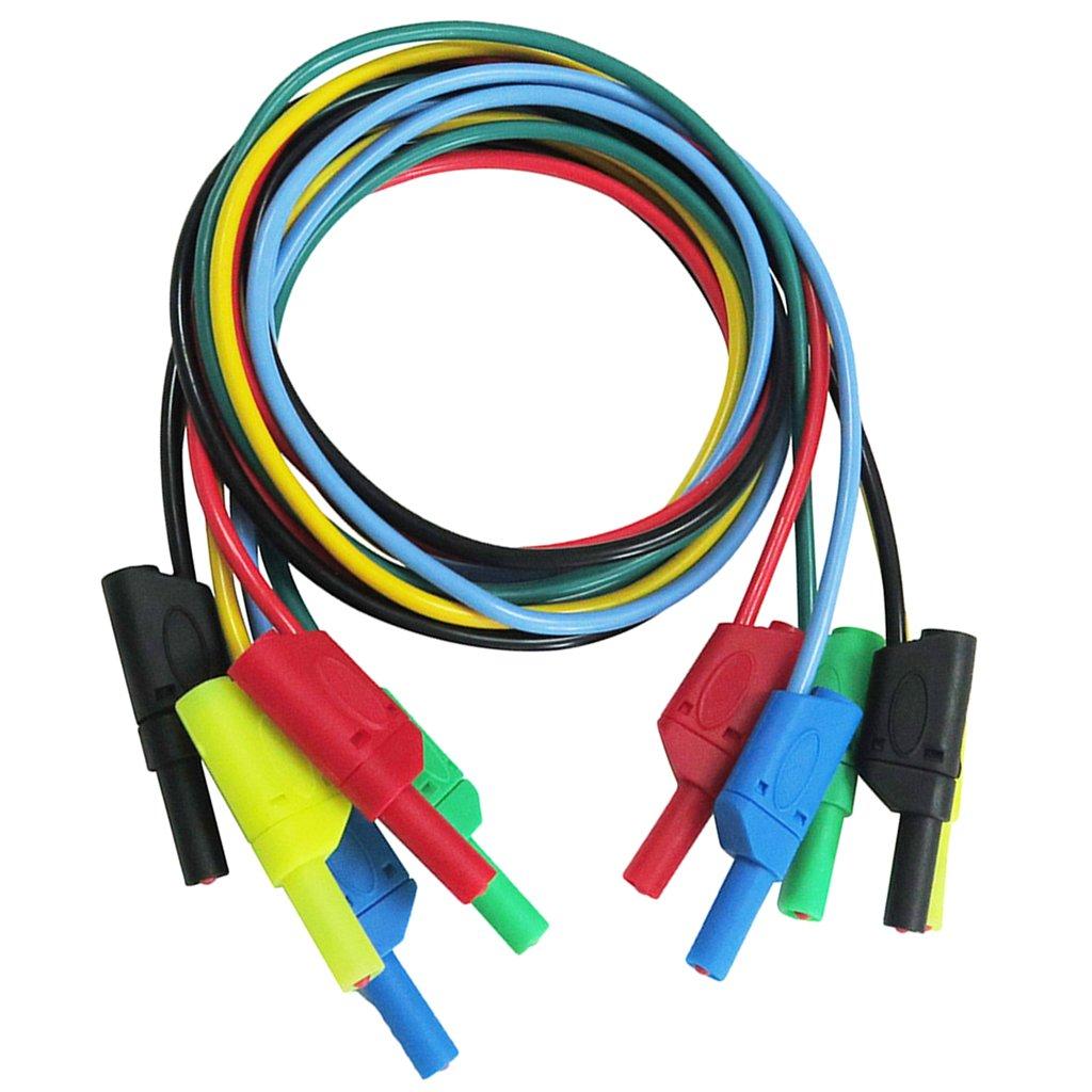 10x perfk Connecteurs de Multim/ètre /à Fiche Banane 4mm S/écurit/é Isol/és Empilables