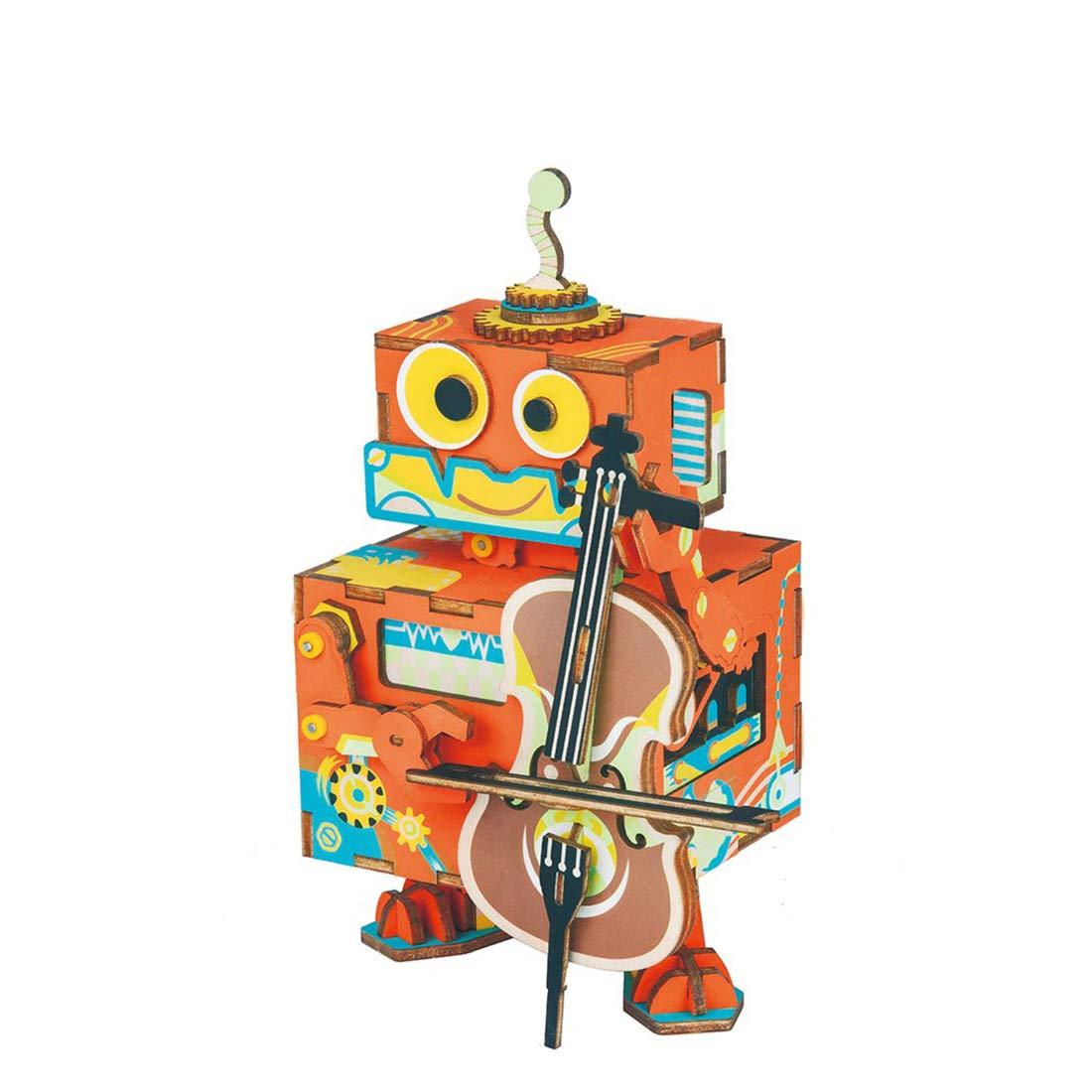 【全商品オープニング価格 特別価格】 カートゥーン Summer 3Dパズル 木製オルゴール Cello DIY クリエイティブ 模型工芸キット B07H5LRP68 取り外し可能 - 子供用ギフト - Cello Summer B07H5LRP68, 自然派化粧品 コスメ2000:dc06b255 --- arianechie.dominiotemporario.com