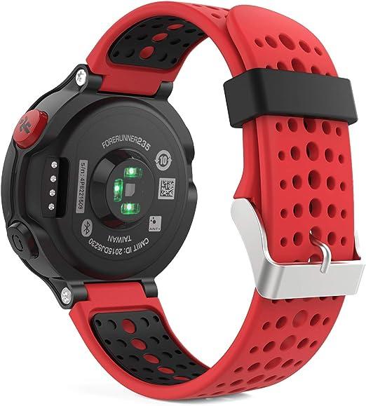 MoKo Forerunner 235/220 / 230/620 / 630/735 Correa - Reemplazo Suave Silicona Watch Band Deportiva Accessorios de Reloj Pulsera Ajustable con Cierre ...