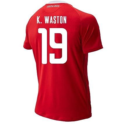 08095fc4080 New Balance K. WASTON #19 Costa Rica Home Soccer Men's Jersey FIFA World Cup