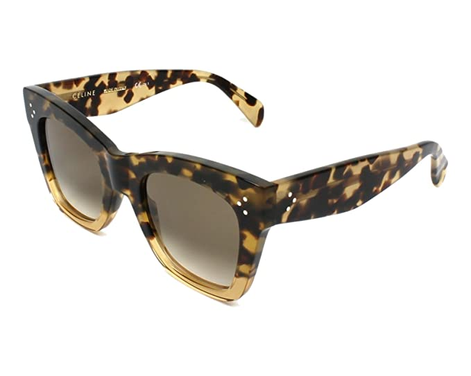 e741af63004 Image Unavailable. Image not available for. Colour  Celine VNNX9  Honey Havana Catherine Wayfarer Sunglasses ...