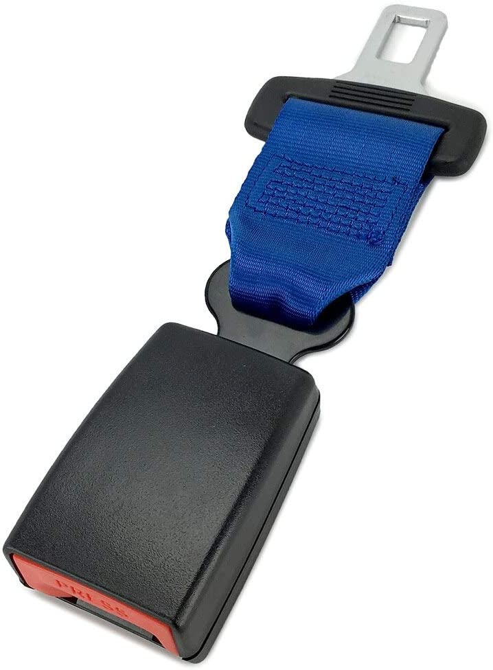 Buckle Up and Drive Safely Again Type A Regular 7 Blue Seat Belt Accessory Extender 7//8 Metal Tongue Width E-Mark Safety Certification