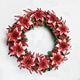 Christmas Garland for Stairs fireplaces Christmas Garland Decoration Xmas Festive Wreath Garland with Christmas Tree Christmas Wreath Festival,60cm