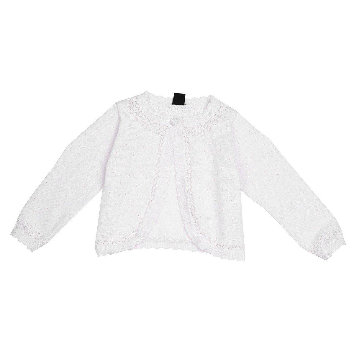iiniim Kids Girls Long Sleeve Lace Flower Knit Bolero Shrug Cardigan Sweater