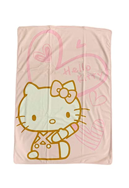 5424f128ccbe Image Unavailable. Image not available for. Color  Hello Kitty Sanrio Pink  Soft ...