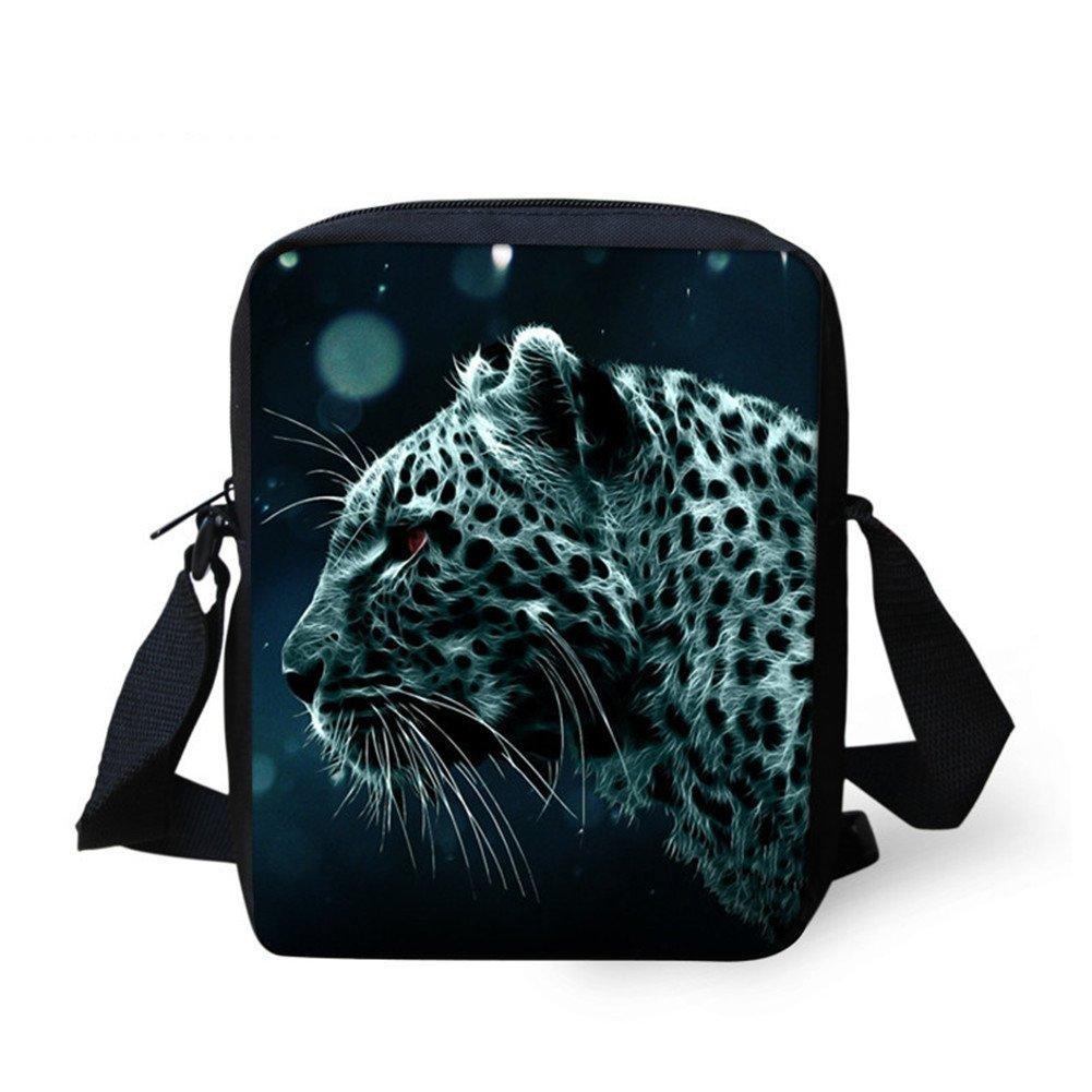 Sannovo Women Cute Leopard Messenger Shoulder Bag Purse for Small Unusual Handbag