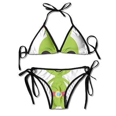 Bikini Alienígena Verde Lindo Traje De Baño De Verano para Mujer ...