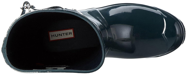 Hunter Women's Boots Original Short Gloss Snow Rain Boots Water Boots Unisex - Black - 8 B01BD29APY 8 B(M) US|Ocean