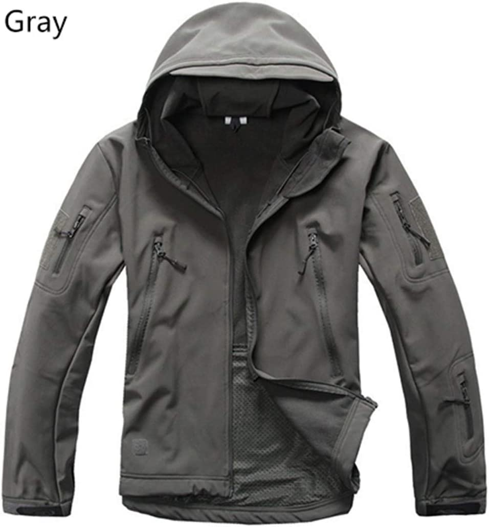 IFAWNGDK Jacket Male Military Tactical Camo Fleece Shark Skin Soft Shell Waterproof Camouflage Jacket Coat