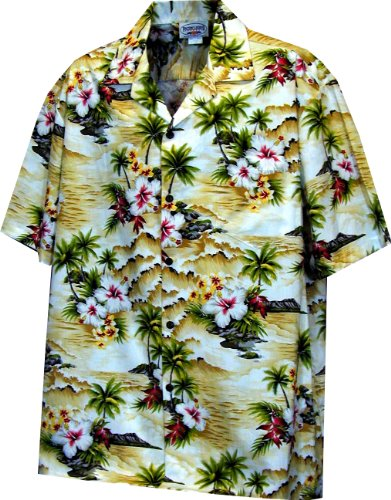 Pacific Legend Boys Diamond Head Ocean Wave Shirt MAIZE XL by Pacific Legend (Image #1)