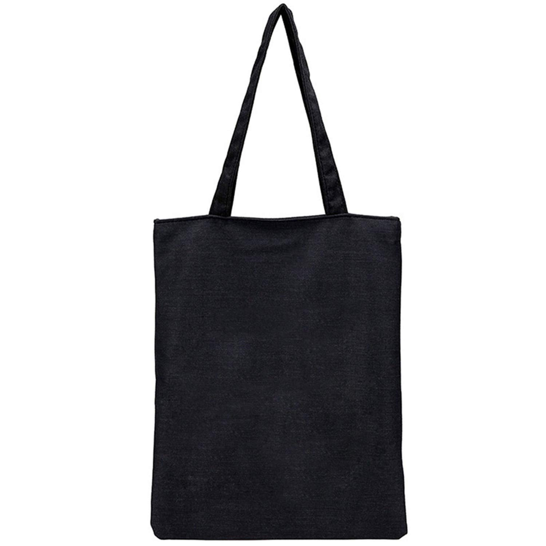 Amazon.com: Bolsas de lona negras reutilizables plegables ...