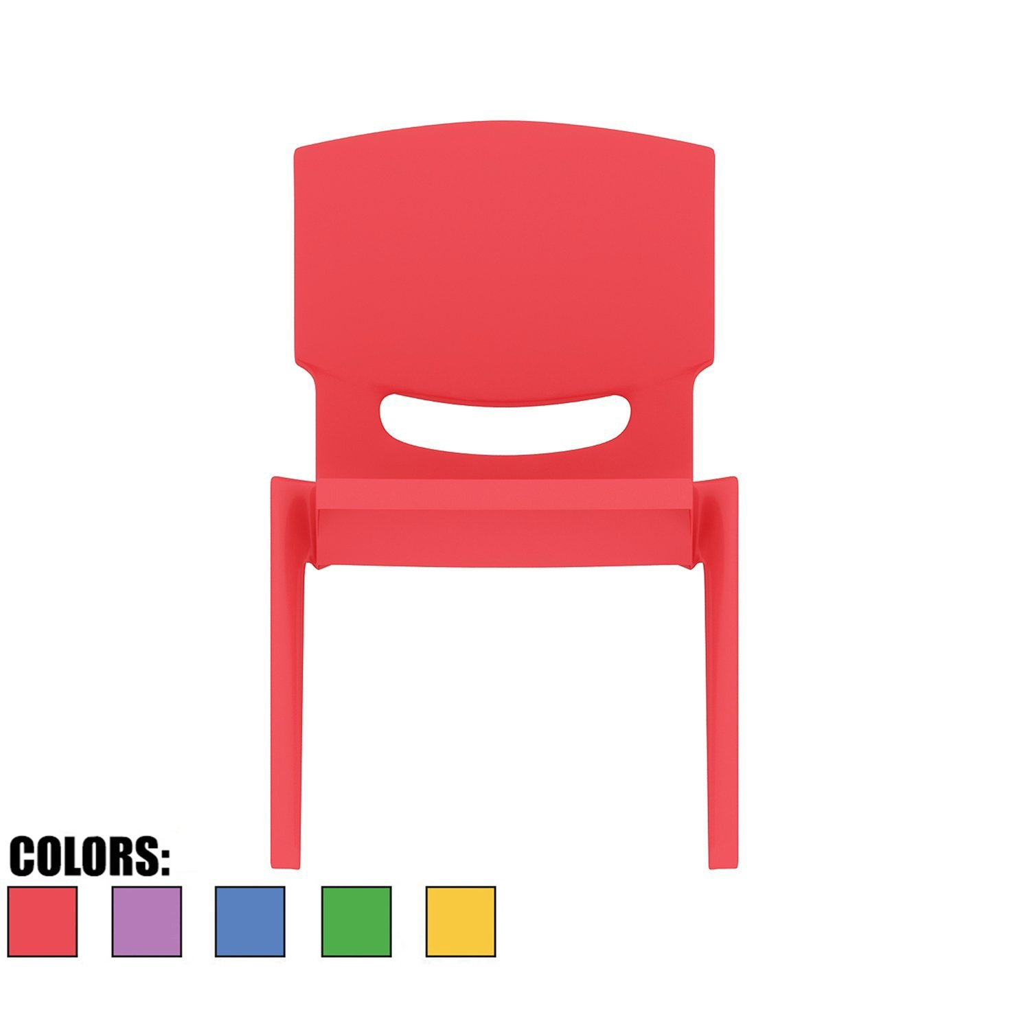 2xhome - Red - Kids Size Plastic Side Chair 10'' Seat Height Red Childs Chair Childrens Room School Chairs No Arm Arms Armless Molded Plastic Seat Stackable