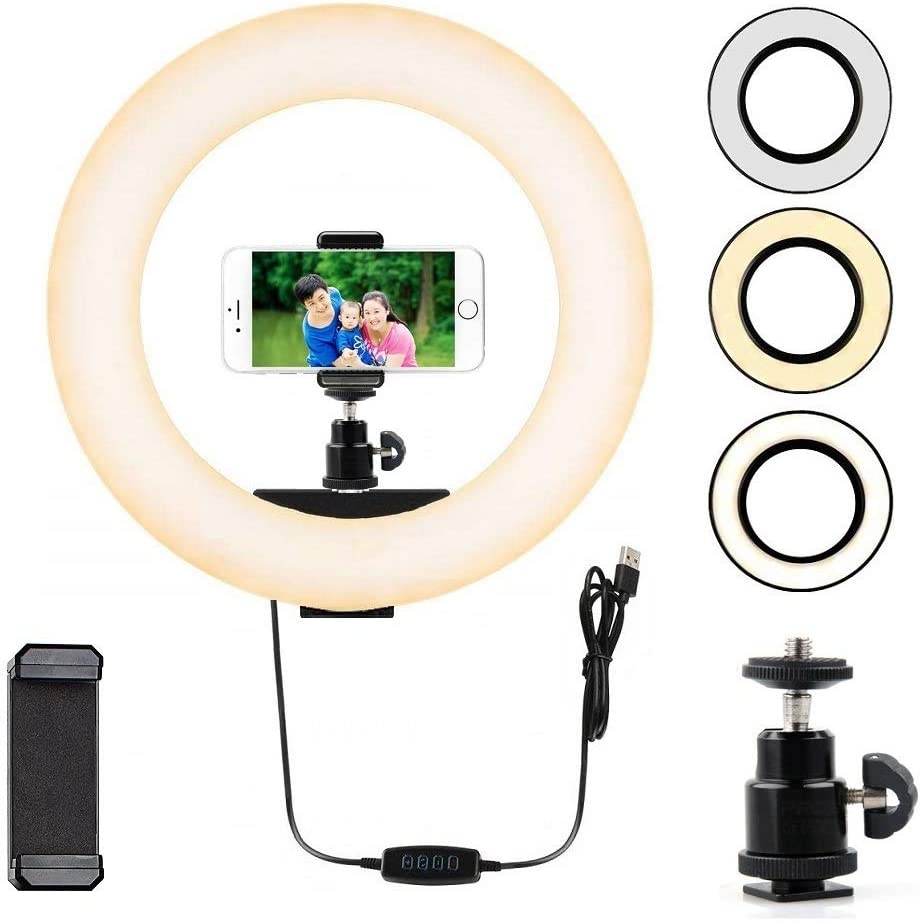 Acetaken Ring Light Webcam Mount,Webcam Light Stand for Logitech C922x,C930e,C920,C922,C930,C925e,C615,Brio 4K