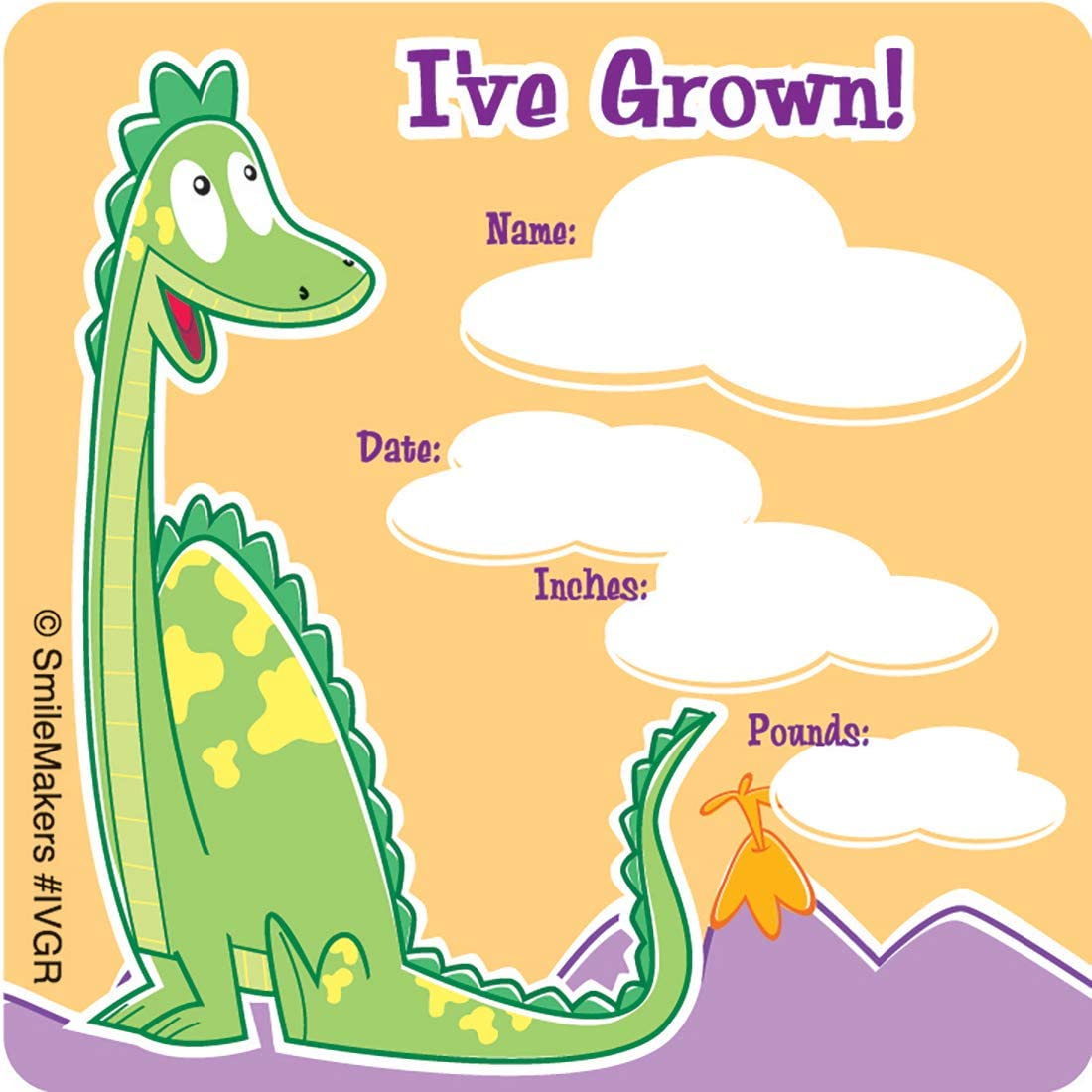 Prizes 100 per Pack SmileMakers Animal Ive Grown Stickers