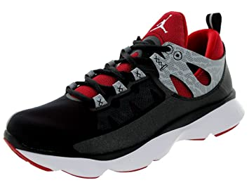 f6345b93a89919 Image Unavailable. Image not available for. Color  Jordan Nike Men s Flight  Runner Black White Gym red Wolf ...