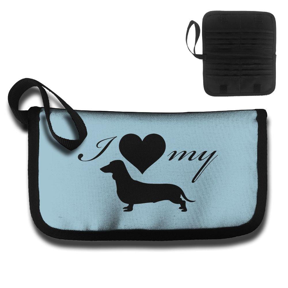 Love My Dog Travel Wallet Passports Holder Document Organizer Card Package