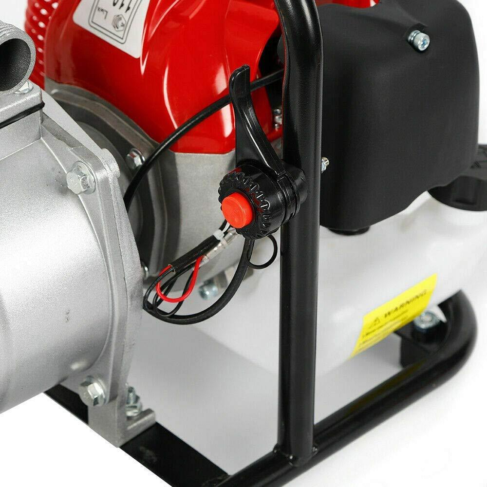 Motor de 2 Tiempos DiLiBee Bomba de Agua de Gasolina de 1 Bomba de Motor 43cc 1.7hp para riego Bomba de Alta presi/ón de Transferencia de Agua de Gasolina para Camping