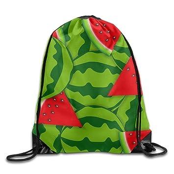 AASPOZ Unisex Watermelon Drawstring Bags Backpack Pocket Bag ...