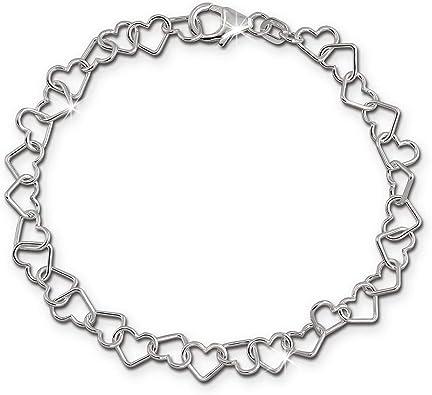 Pulsera de mujer de 19 cm, corazones de plata de ley 925, joyería femenina SDA2529J, de SilberDream: SilberDream: Amazon.es: Joyería
