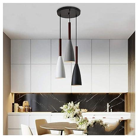 DE_ZHAO Lámpara Colgante LED de luz Minimalista Moderna ...