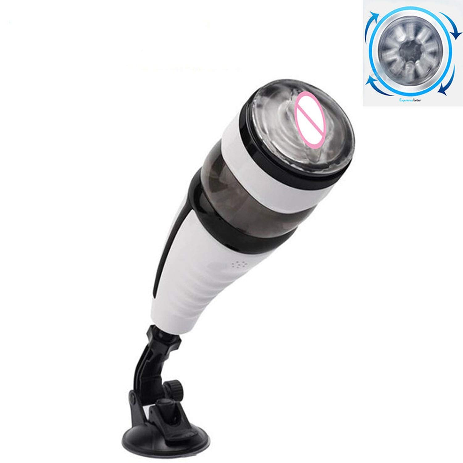 USEXMTY S-Tshirt New Automatic Telescopic Rotating Hands Free Masturbator Sex Machine for Men Voice Male Masturbator Electric Pussy Toys,Rebox Packing Effectively by USEXMTY S-Tshirt (Image #1)