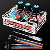 Function Generator - Kuman Updated XR2206 DIY Kit Signal Generator with Screwdriver and Jumper Wires Cable - Sine Triangle Square Output 1Hz-1MHz Adjustable Frequency Amplitude K76