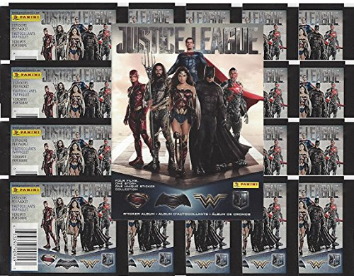 2017 Panini DC Comics 'Justice League' Sticker Collection Starter Kit (20 packs & 1 album) from Panini
