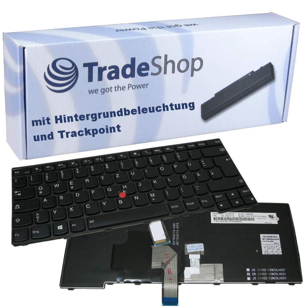 Deutsches Tastaturlayout Trade-Shop Original Laptop Tastatur//Notebook Keyboard Deutsch QWERTZ f/ür Lenovo Thinkpad E431 E440 L440 L450 L460 T431 T431S T440 T440I T440P T440S T440SI T450 T450S T460