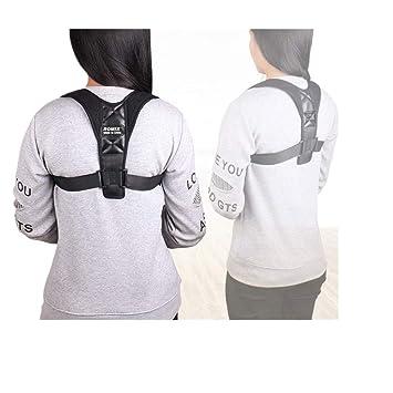 Amazon.com: Corrección de espalda ajustable con cinturón de ...