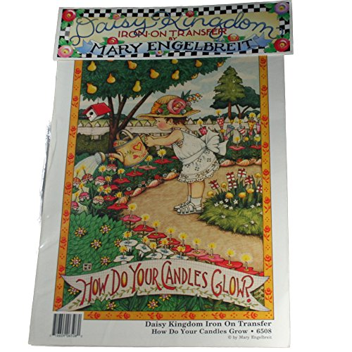 Daisy Kingdom Iron-On Transfer #6508 Mary Engelbrieit How Do Your Candles Glow?