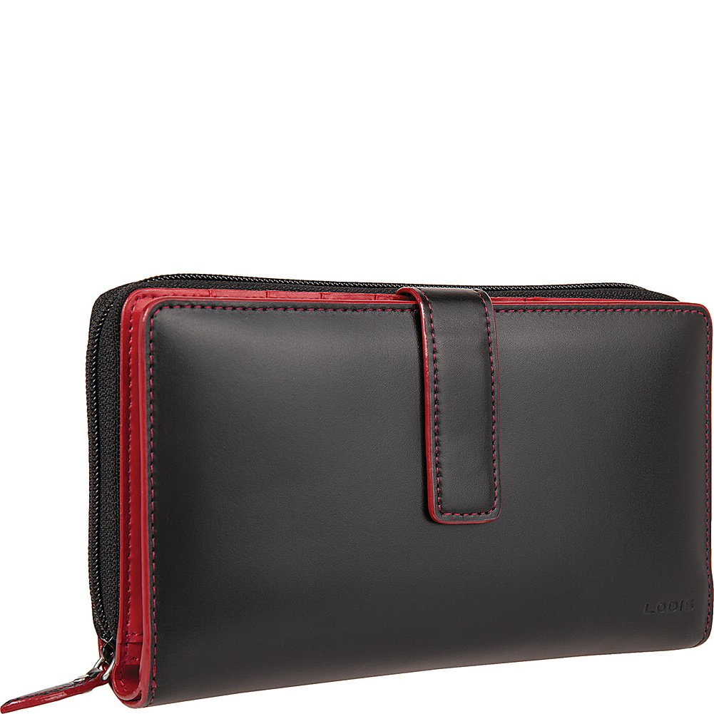 Lodis Audrey Deluxe Checkbook Clutch Wallet, Black, One Size