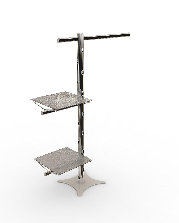 Paolo Rossi - Perchero cromado con 2 estantes de plexiglás ...
