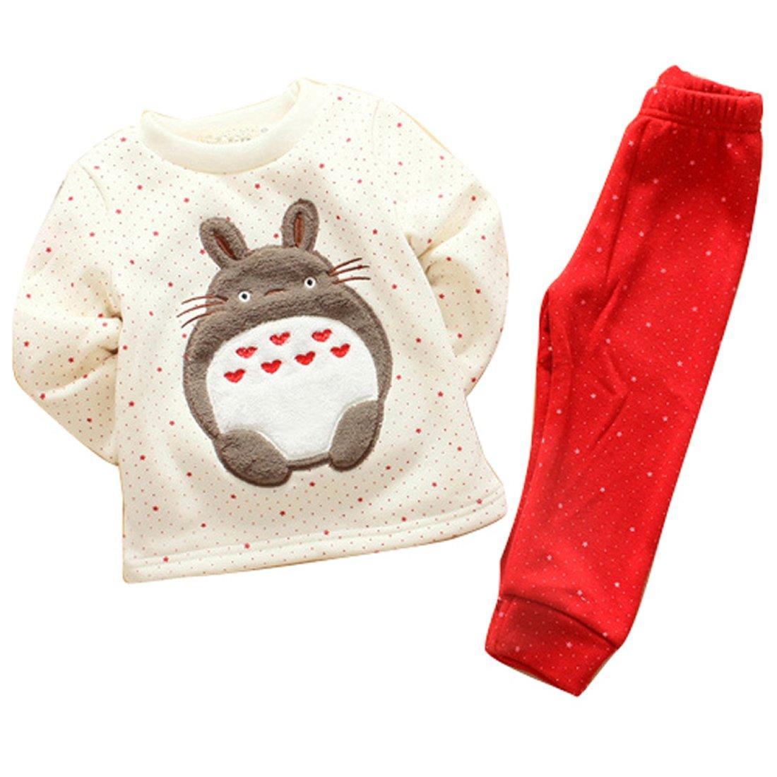 Baby Toddler Girls Boys Fleece Pyjamas Set Long Sleeve Winter Pjs Sleepsuit Playsuit Loungewear Gaorui E-Commerce Co. Ltd BABBJJF-QE80