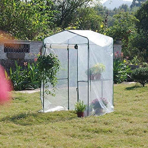 ビニールハウス H73.22はX D36.22インチ・温室テント、PE防水温室カバー、屋外ガーデンバルコニーのホーム植物温室テント「W48.03をx」は