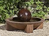 Campania International FT-150-TN Low Zen Sphere Fountain, Terra Nera Finish