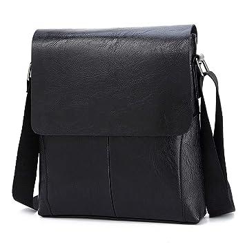 ALTINOVO Men Work Messenger Bag Made of Waterproof Nylon Shoulder Bag Briefcase Multi-Pocket,Black