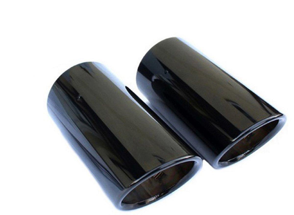 Cubiertas originales para tubo de escape doble, acero inoxidable, color negro: Amazon.es: Coche y moto