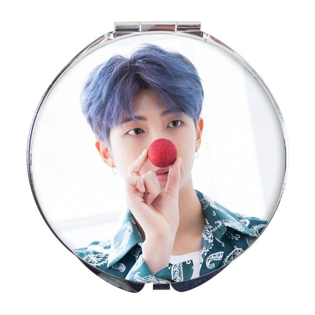 Nuofeng - Kpop BTS Bangtan Boys Photo Portable Stainless Steel Shell Mirror(H07)