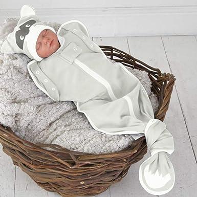 Morran Einfarbig Babydecke Babytuch Handtuch Neugeborenes Baby Gestrickt Wickeln Swaddle Decke Schlafsack f/ür 0-12 Monat Baby