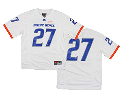 online retailer 299f5 227ba Nike NCAA Big Boys Youth Boise State Broncos #27 Football Jersey, White