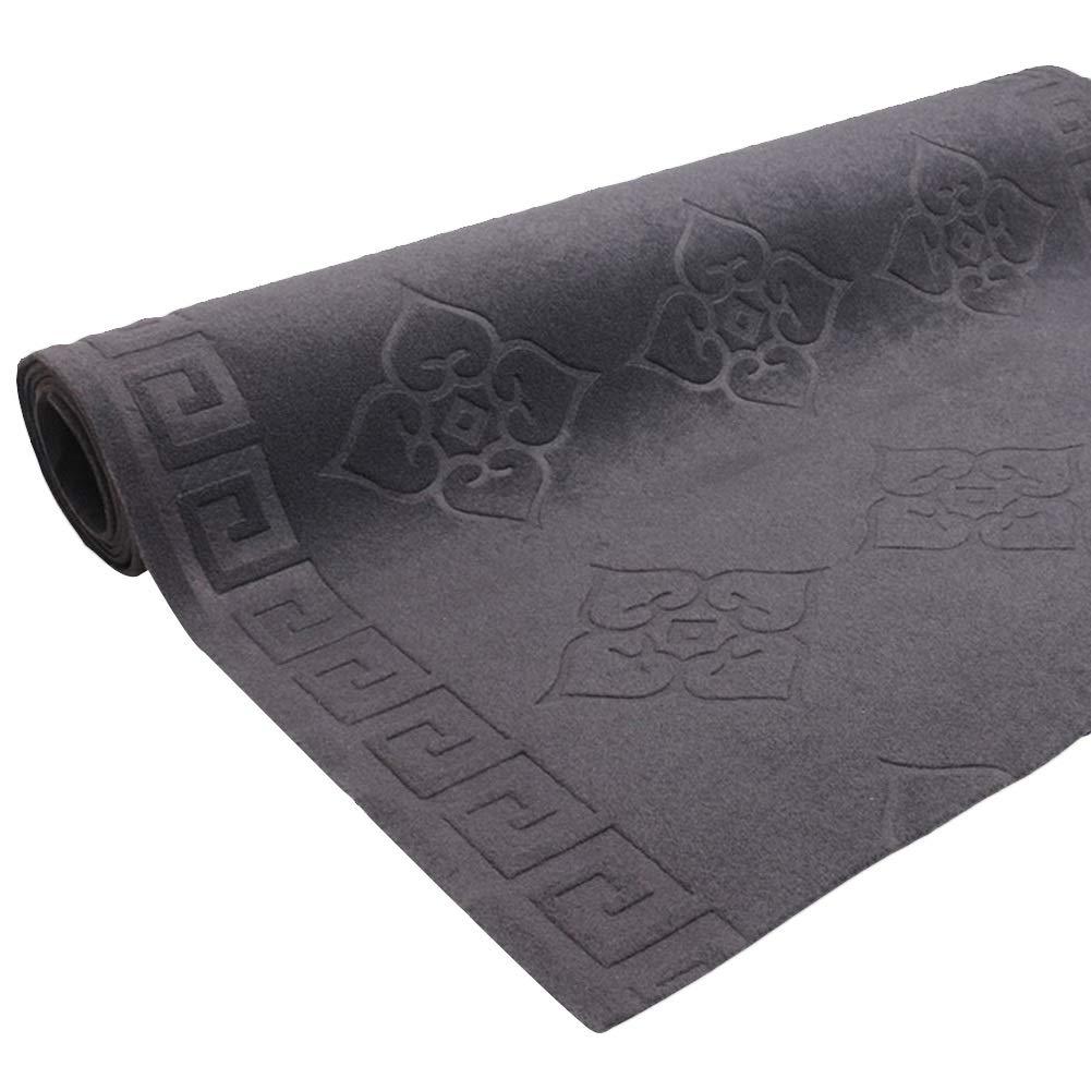 JIAJUAN 多機能 廊下のカーペット ランナー ラグ 滑り止め 掃除が簡単 床 ダートトラッパー マット にとって キッチン ホテル ホール カスタマイズ可能 (色 : Gray, サイズ さいず : 1.6x7m) 1.6x7m Gray B07Q3FTSWG