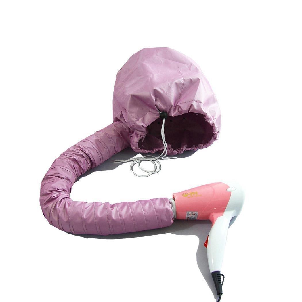 Meflying Softhood Bonnet Hair Drying Cap Blow Women Hair Dryer Soft Cap Bonnet For Hand Held Hair Dryer Attachment (Pink)
