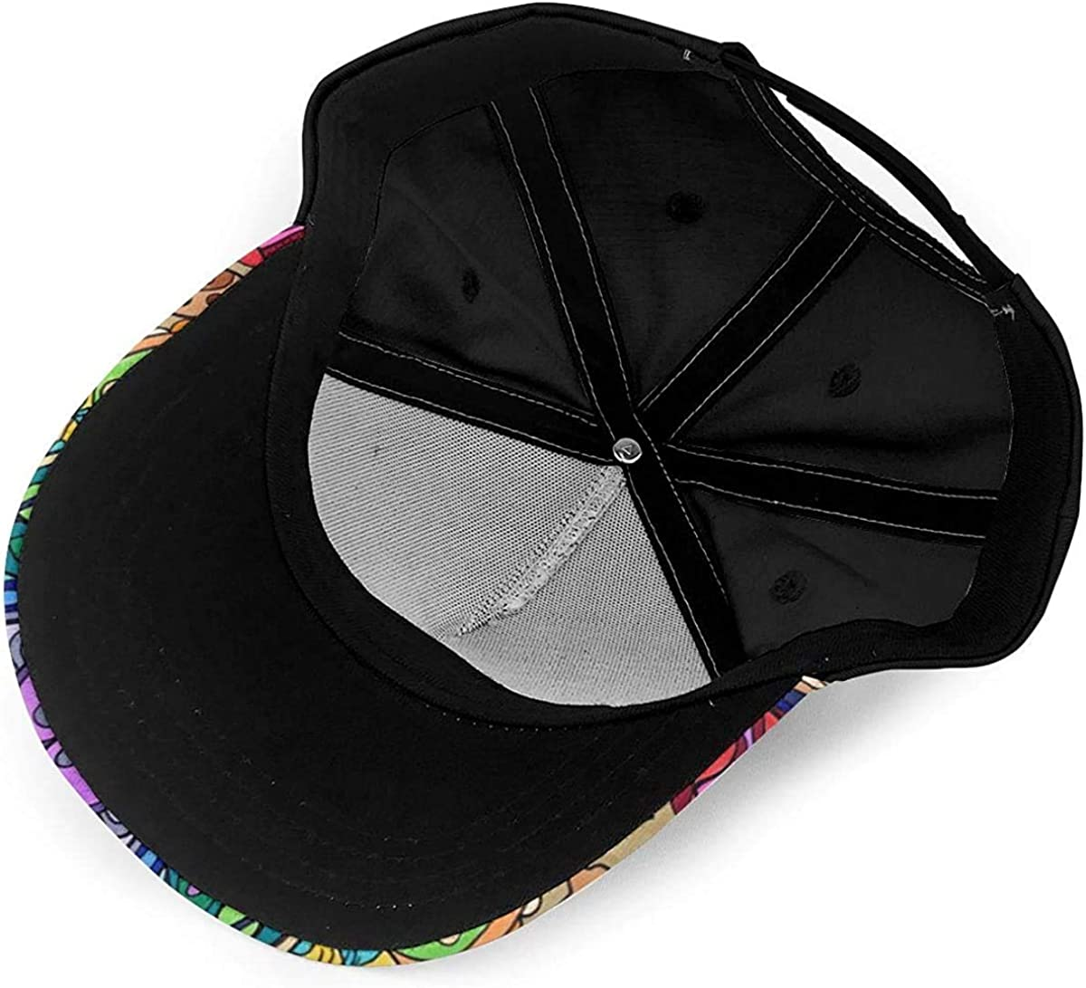 Beautiful Mandala Pattern Lightweight Unisex Baseball Caps Adjustable Breathable Sun Hat for Sport Outdoor Black